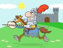 Cavallo di guida del cavaliere illustrazione di stock