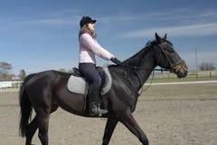 Cavallo di guida della donna Immagine Stock Libera da Diritti