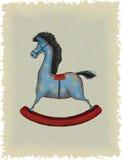 Cavallo di legno Fotografia Stock