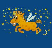 cavallo di magia di gioia Fotografia Stock
