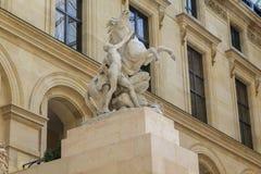 Cavallo di marnoso al Louvre Fotografie Stock