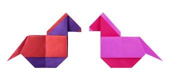 Cavallo di origami Fotografia Stock