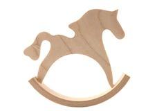 Cavallo di oscillazione di legno immagine stock libera da diritti