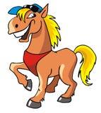 Cavallo di risata Immagini Stock