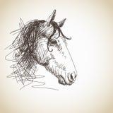 Cavallo disegnato a mano Fotografia Stock Libera da Diritti