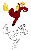Cavallo divertente del fumetto Fotografie Stock