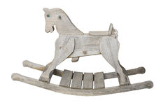 Cavallo a dondolo d'annata Fotografie Stock Libere da Diritti