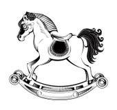 Cavallo a dondolo dell'illustrazione di vettore Fotografie Stock