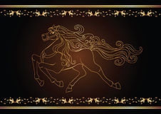 Cavallo dorato Immagini Stock Libere da Diritti