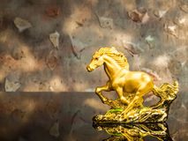Cavallo dorato Fotografia Stock Libera da Diritti