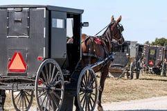 Cavallo e buggy dei Amish fotografie stock libere da diritti