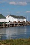 cavallo e carrozzini portuali nel makinaw Isl del Michigan Fotografie Stock
