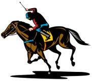 Cavallo e cavaliere Fotografia Stock Libera da Diritti
