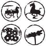 Cavallo e fiore fotografia stock libera da diritti