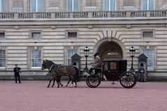 Cavallo e trasporto al Buckingham Palace Immagine Stock