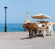 Cavallo e trasporto dell'annata Fotografie Stock Libere da Diritti