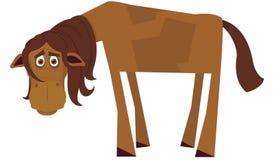 Cavallo faticoso illustrazione vettoriale