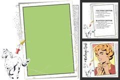 Cavallo galoppante Pagina per l'album per ritagli, insegna, autoadesivo, Ne del sociale Immagini Stock