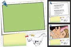 Cavallo galoppante Pagina per l'album per ritagli, insegna, autoadesivo, Ne del sociale Fotografie Stock