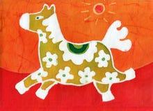 Cavallo giallo Fotografie Stock Libere da Diritti