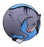 Cavallo grigio illustrazione di stock