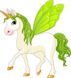 Cavallo leggiadramente di verde della coda Fotografie Stock
