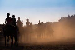 A cavallo lezione Immagini Stock Libere da Diritti