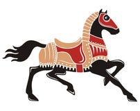 Cavallo medioevale Immagini Stock