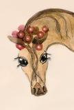 Cavallo molto sveglio dell'acquerello Fotografia Stock