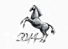 Cavallo nero - 2 Fotografie Stock