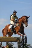 Cavallo P Funnell di Eventing immagine stock