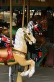 Cavallo su caroussel Fotografie Stock Libere da Diritti