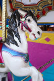 Cavallo su un carosello Fotografia Stock