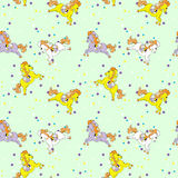 Cavallo Toy Birthday Seamless Pattern Fotografia Stock Libera da Diritti