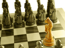 Cavallo unico di scacchi Fotografie Stock Libere da Diritti