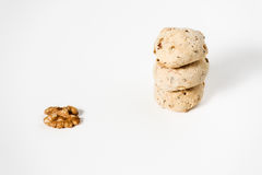 Cavallucci, typical Italian biscuits with walnut Stock Photos