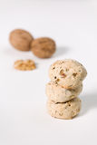 Cavallucci, typical Italian cookies with walnut and candied frui Royalty Free Stock Image