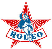 Cavalo americano do cowboy do rodeio ilustração stock