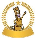 Cavalo - bandeira Fotografia de Stock Royalty Free
