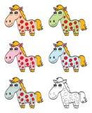 Cavalo bonito dos desenhos animados ilustração stock