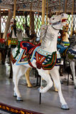 Cavalo branco do carrossel Foto de Stock Royalty Free