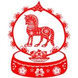 Cavalo chinês do ano novo Fotografia de Stock Royalty Free