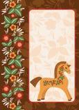 Cavalo com ornamento popular 2 Imagens de Stock