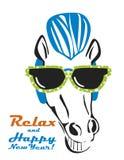 Cavalo com pára-sóis Fotografia de Stock Royalty Free