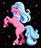 Cavalo cor-de-rosa Fotografia de Stock