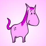 Cavalo cor-de-rosa Foto de Stock Royalty Free