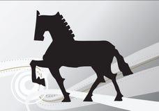 Cavalo da tração da mão Fotografia de Stock Royalty Free
