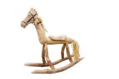 Cavalo de balanço de madeira   Foto de Stock