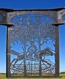 Cavalo de balanço do ferro feito Imagens de Stock