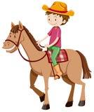 Cavalo de equitação do homem apenas Fotos de Stock Royalty Free